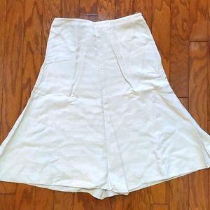 Banana Republic 100% Linen Cream Summer Skirt